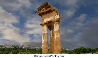 Ancient Greek Temple the Dioscuri - Ancient Greek Temple of...