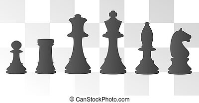 Illustration of chess - vector illustration of chess board...