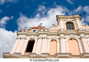 Church of St Casimir in Vilnius - capital of Lithuania