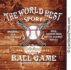 baseball the world sport - baseball sport vector for T-shirt...