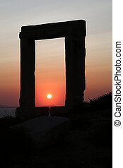 Naxos - The Portara Gate of the Apollo Temple in Naxos...