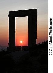 Naxos - The Portara Gate of the Apollo Temple in Naxos...