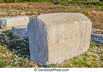 Tombstones from the Middle Ages - Old Croatian...