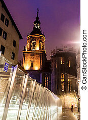 Escalators and San Pedro church in Vitoria - Escalators and...