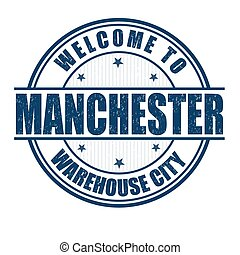 Welcome to Manchester stamp - Welcome to Manchester,...