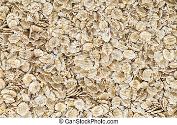rolled oats - background and texture