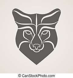Symbol head of the old fox - Symbol of head of the old fox....