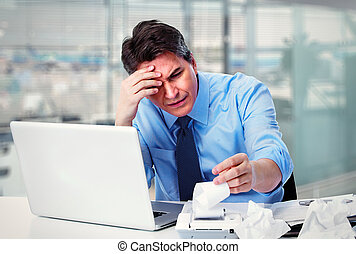 Accountant businessman having a stress - Accountant...
