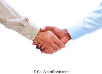 Business Handshake - Handshake Hands of businessman isolated...