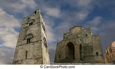 Catholic Church in Erice, Sicily - Medievel Catholic Church...
