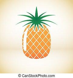 Pineapple vector symbol
