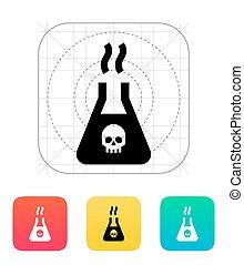 Dangerous substance icon. Vector illustration. - Dangerous...