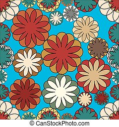 geometric mosaic seamless floral pattern. Vector pattern -...