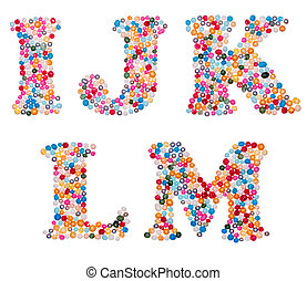Capital characters made of colorful sprinkles - Letter set...