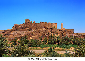 small village and ruins on moroccan province