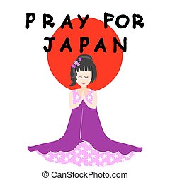 Pray for Japan - Help and Pray for Japan - Vector...