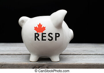 Canadian Registered Education Savings Plan, RESP concept with wh