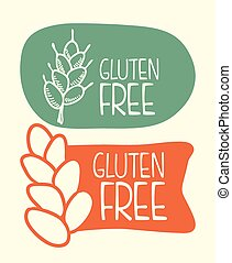 gluten free design, vector illustration eps10 graphic