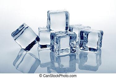 hielo, cubos,
