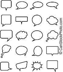 Speech bubble collection. Vector illustration