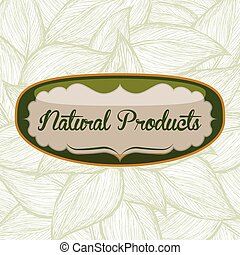 natural product design, vector illustration eps10 graphic
