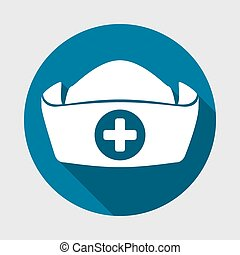 nurse hat design, vector illustration eps10 graphic
