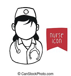 nurse woman design, vector illustration eps10 graphic