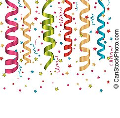 Confetti holiday background with set colorful paper...