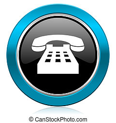 phone glossy icon telephone sign