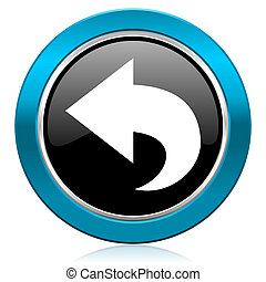 back glossy icon arrow sign