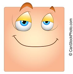 Innocent Cute Smile Face Box Smiley - Cute Happy Lazy...