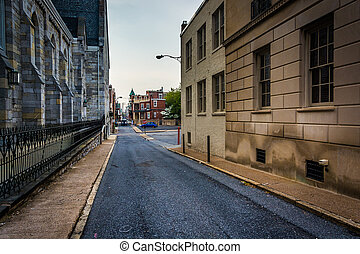 Alley in Harrisburg, Pennsylvania