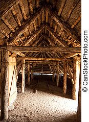 Prehistoric Reconstruction of a Stone Age House