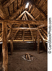 Prehistoric Reconstruction of a Stone Age House on Amrum in...