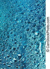 Water Drops Rain Blue Glass Background - Water Drops Of Rain...