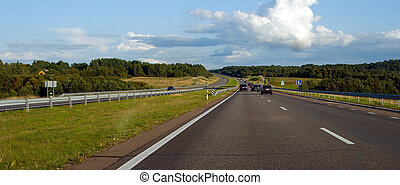 Country Highway - 2 - panoramic view of a country highway in...