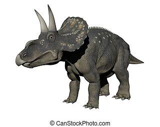 diceratops dinosaur - 3d render - diceratops dinosaur in...