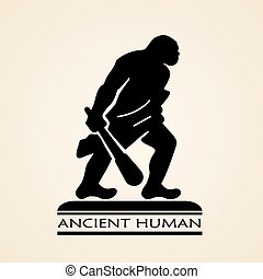 antiguo, humano, icono,