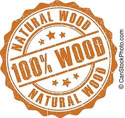 100 natural wood stamp