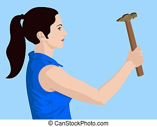 Lady with a hammer