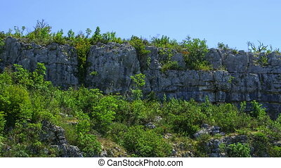 Top of the hill - Typical limestone rocks on top of the hill...