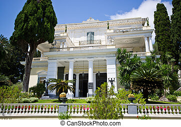 Achillion palace on Corfu island, Greece - Achillion palace...