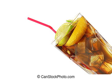 long island ice tea isolated on white background...