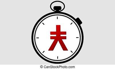 Stopwatch Japanese Yen Symbol - Stopwatch with a Japanese...