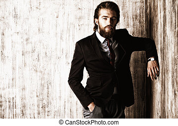person welldressed - Portrait of a respectable handsome man...
