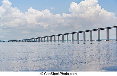 The Manaus Iranduba Bridge, also called Ponte Rio Negro in...