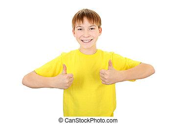Kid with OK Gesture