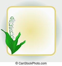 Lily of the Valley Spring flower background frame place for...
