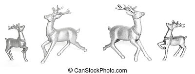 Ceramic statuettes reindeer - Ceramic statuettes reindeer,...