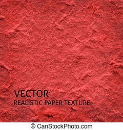 Red textured paper vector background Grunge paper texture
